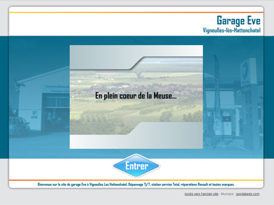 Site Internet du Garage Eve
